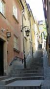Akmeniniai laiptai nuo turgaus aikštės link Vyslos