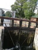 Dambruvka šliuzo vartai iš ąžuolo