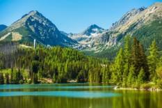 Štrebske Pleso ežeras 1346 m virš jūros lygio